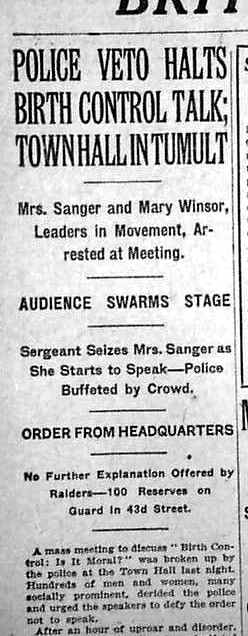 the perspective of margaret sanger on birth control Considering the role eugenics played in the early birth control movementand sanger's the negro project: margaret sanger from the abcl's perspective.